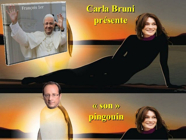 Carla Bruni présente « son »pingouin