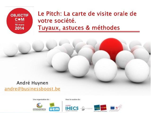 Le pitch :  la carte de visite orale de votre entreprise