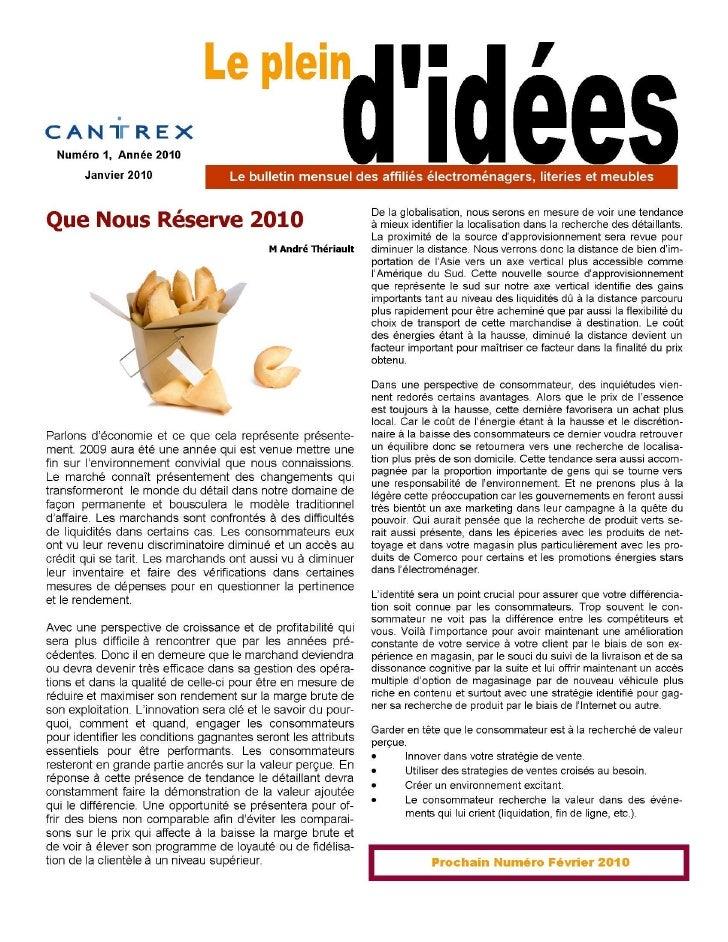 Le Plein D IdéEs Janvier 2010 Vf