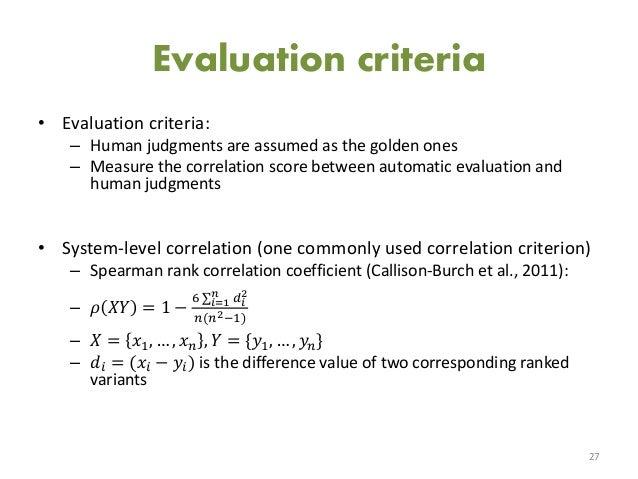 Master thesis evaluation criteria