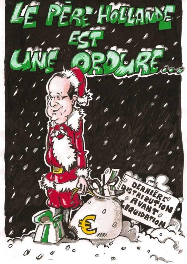 Le père hollande est une ordure   BD de Noël