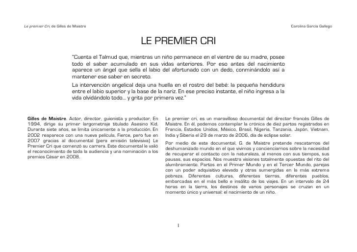 Le premier Cri, de Gilles de Maistre                                                                                      ...