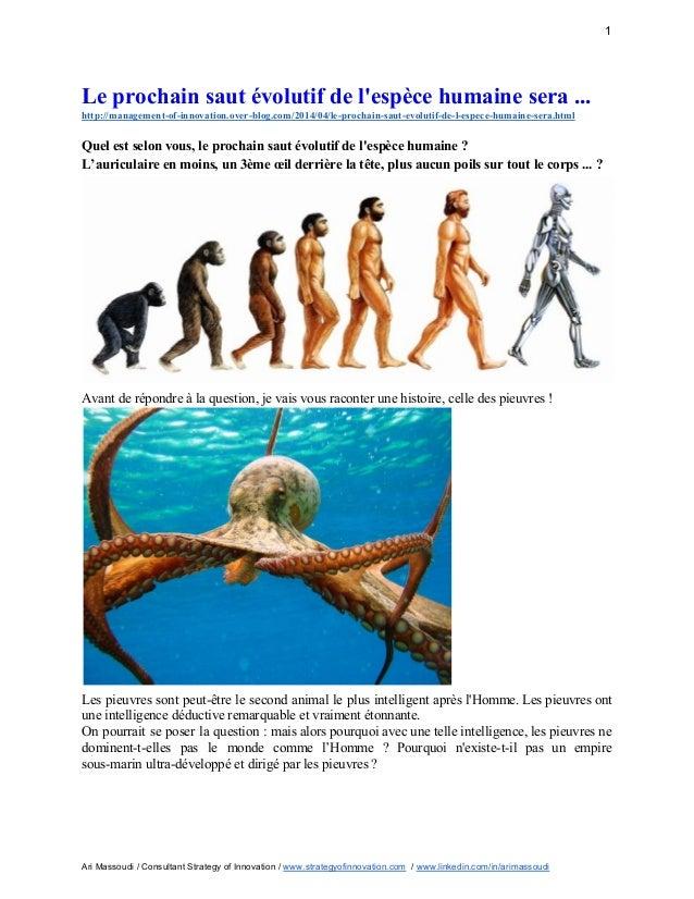 Le prochain saut évolutif de l'espèce humaine sera