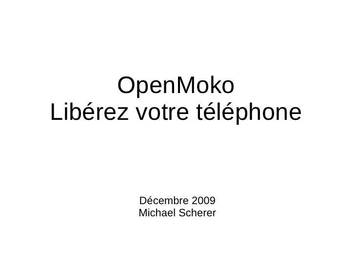 Le projet OpenMoko