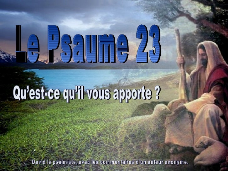 Le psaume 23
