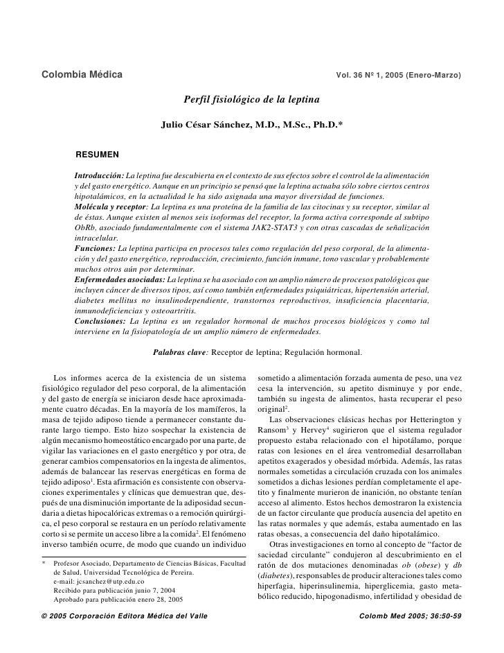 Colombia Médica                                                                            Vol. 36 Nº 1, 2005 (Enero-Marzo...