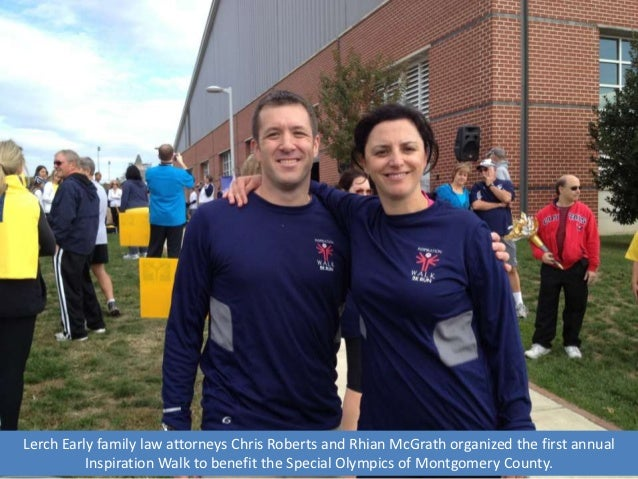 Lerch Early family law attorneys Chris Roberts and Rhian McGrath organized the first annual          Inspiration Walk to b...