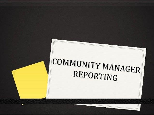 Le reporting d'activité de Community Manager