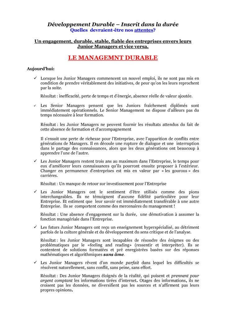 Le Retour Du RêVe Final Document Street Smart Manager 12102009