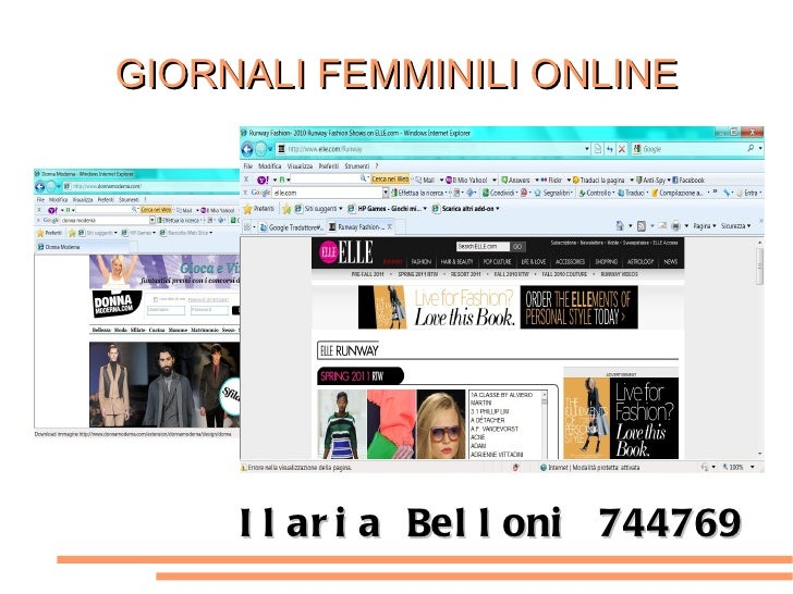 GIORNALI FEMMINILI ONLINE Ilaria Belloni 744769
