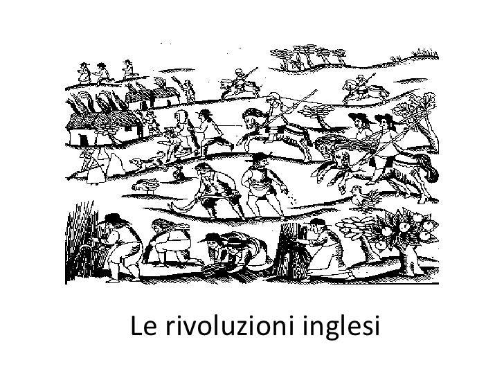 Le rivoluzioni inglesi