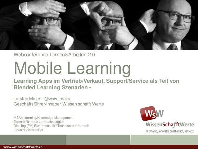Webconference Lernen&Arbeiten 2.0Mobile LearningLearning Apps im Vertrieb/Verkauf, Support/Service als Teil vonBlended Lea...