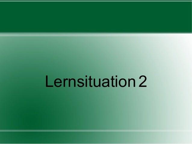 Lernsituation 2