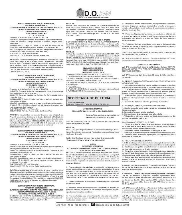 Regimento Interno da II CMCRio