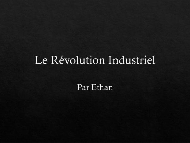 Le révolution industriel