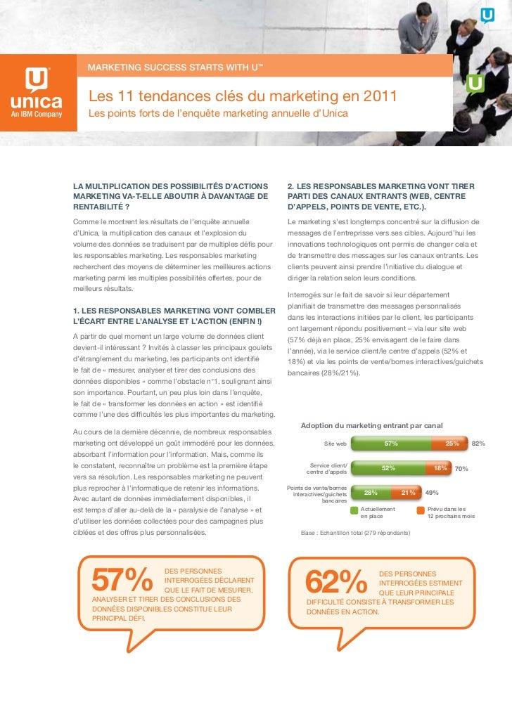 Unica : Les 11 tendances clés du marketing en 2011