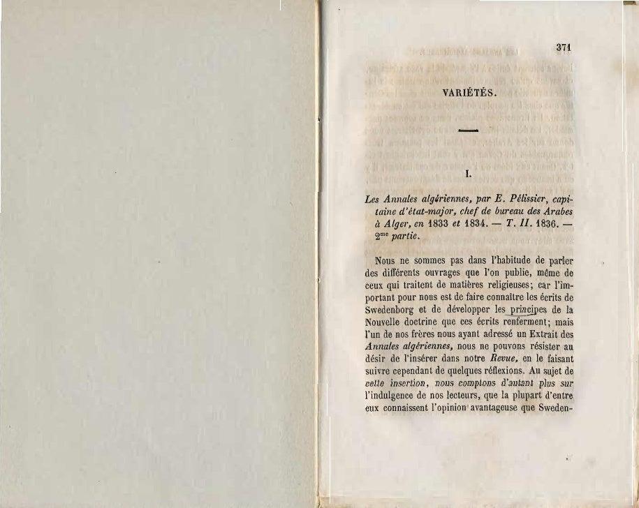 371                    VARIÉTÉS.                        -                         1.Les Annales algiriennes, par E. Péliss...