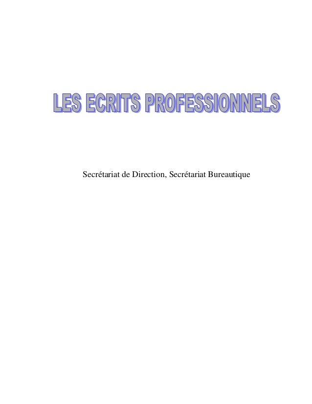 Les ecrits-professionnels