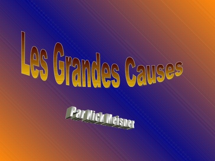 Les Grandes Causes Par Nick Meisner