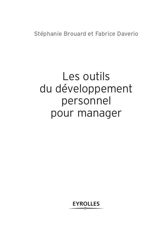 Les outils du developpement personnel manager - Academie du developpement personnel ...