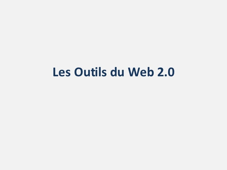 Les Outils du Web 2.0