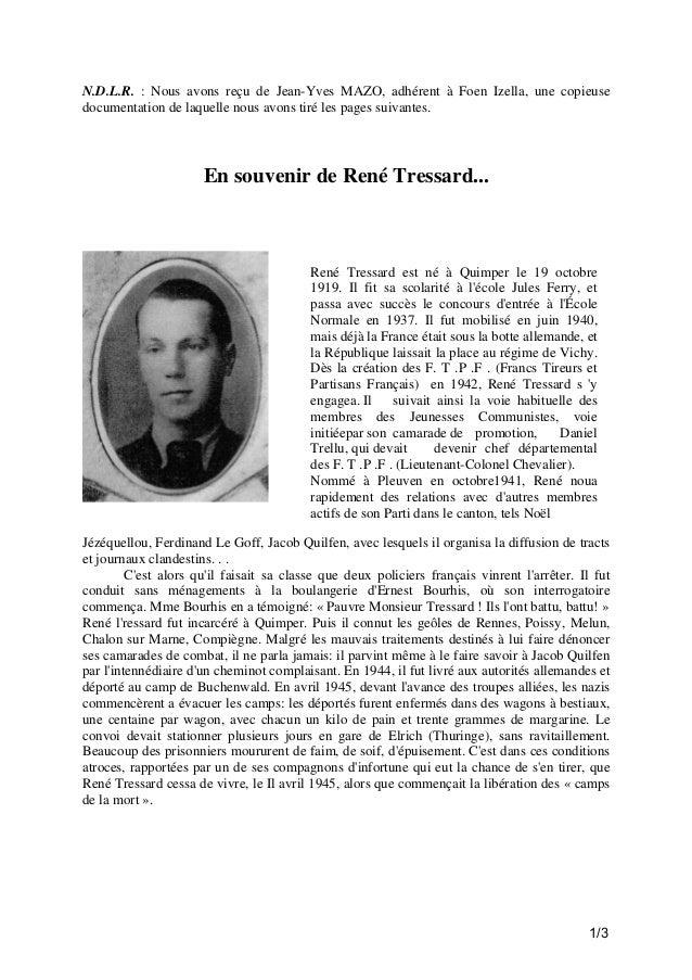 N.D.L.R. : Nous avons reçu de Jean-Yves MAZO, adhérent à Foen Izella, une copieuse documentation de laquelle nous avons ti...