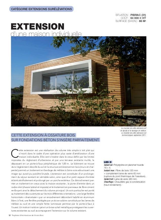 Cout d une extension de maison extension duune maison for Cout extension