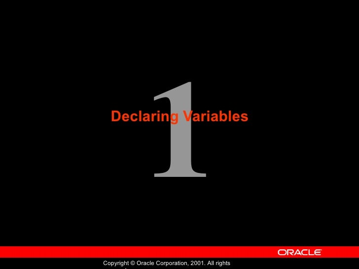 Oracle - Program with PL/SQL - Lession 01