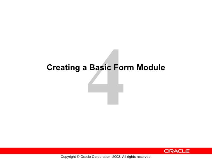 Creating a Basic Form Module