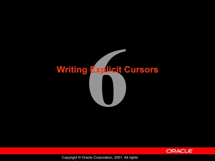 Writing Explicit Cursors
