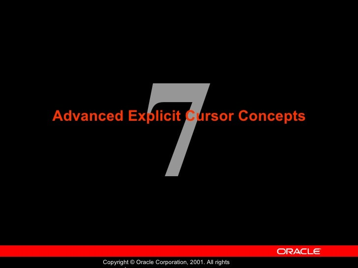 Oracle - Program with PL/SQL - Lession 07