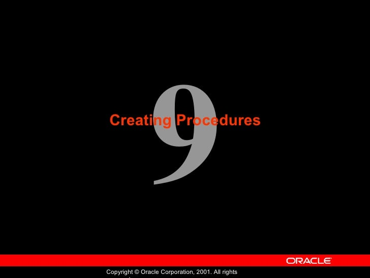 Oracle - Program with PL/SQL - Lession 09