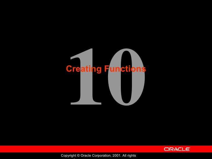 Oracle - Program with PL/SQL - Lession 10
