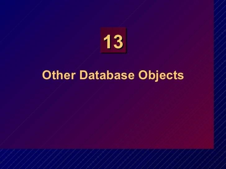 Other Database Objects