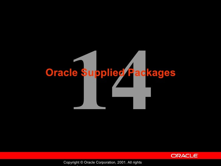 Oracle - Program with PL/SQL - Lession 14
