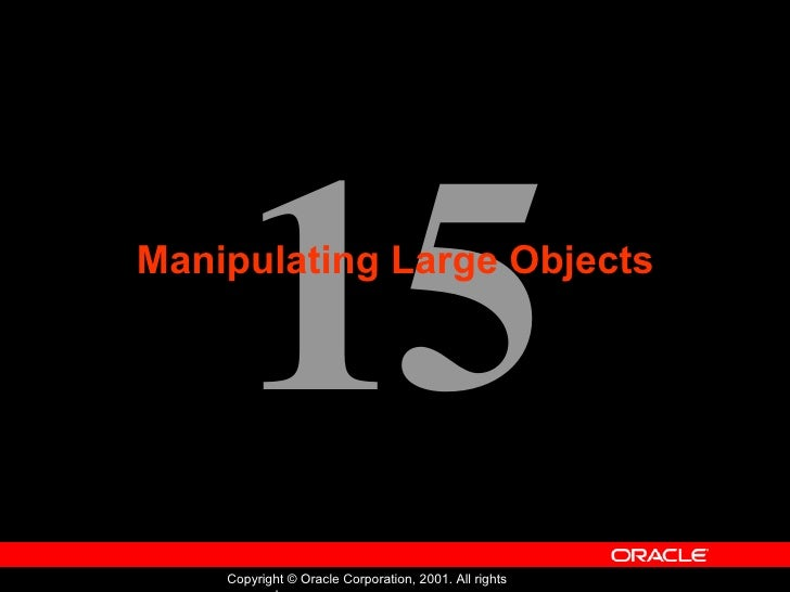Manipulating Large Objects