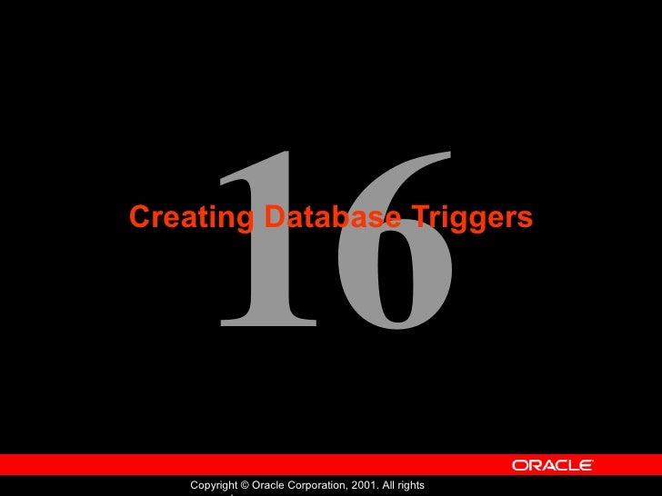 Creating Database Triggers