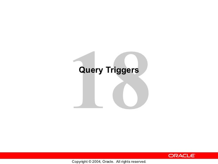 Query Triggers