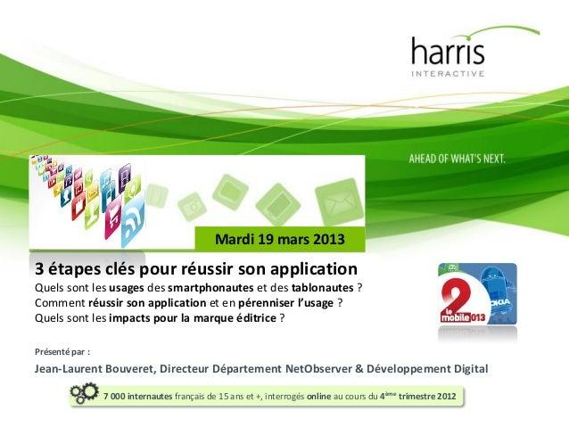 Mardi 19 mars 20133 étapes clés pour réussir son applicationQuels sont les usages des smartphonautes et des tablonautes ?C...