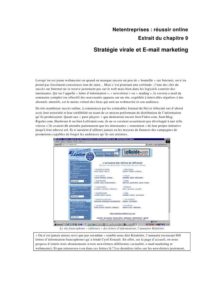 Netentreprises : réussir online                                                                                Extrait du ...
