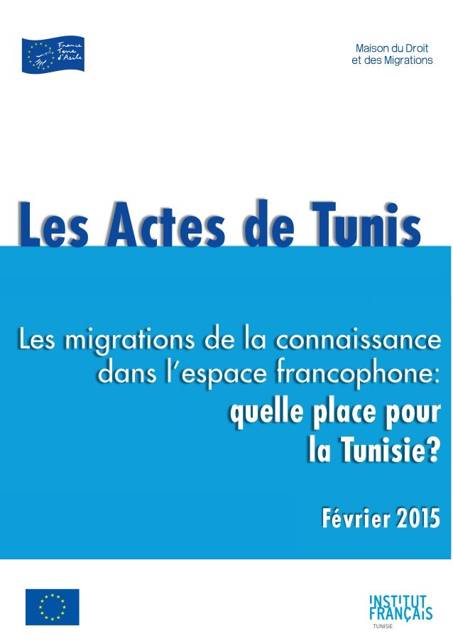 2 Sommaire Introduction La participation des ressortissants tunisiens à l'expansion de l'économie de la connaissance au se...