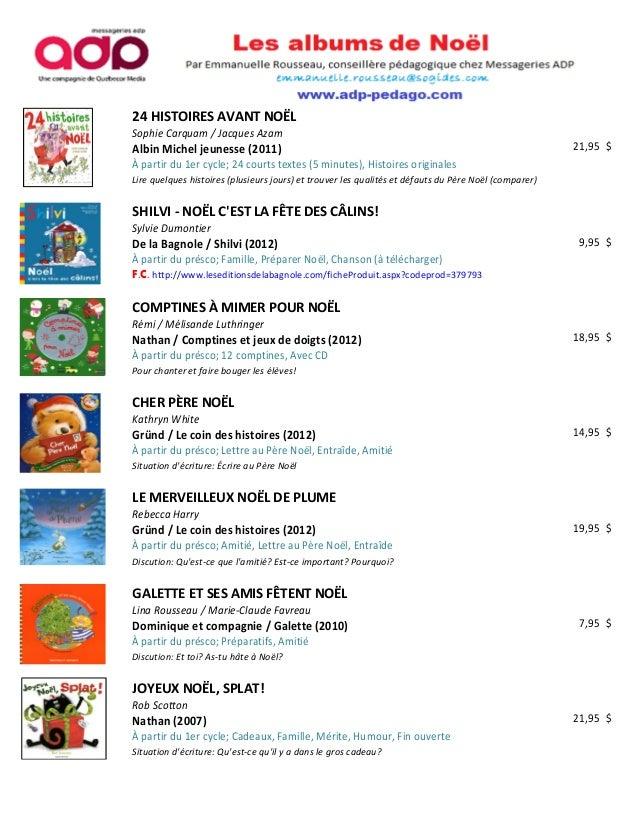 24 HISTOIRES AVANT NOËLSophie Carquam / Jacques AzamAlbin Michel jeunesse (2011)                                          ...