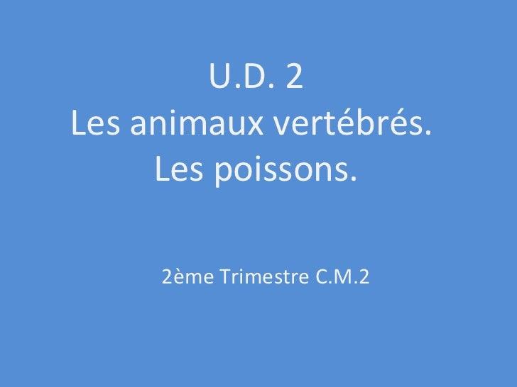 U.D. 2 Les animaux vertébrés.  Les poissons. 2ème Trimestre C.M.2