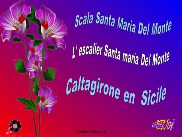 Caltagirone est une ville d' environ 39 000 Habitants en Sicile, Célèbre pour sa céramique