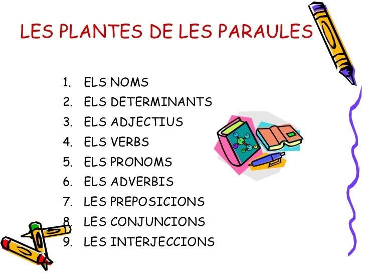 LES PLANTES DE LES PARAULES