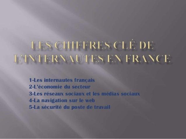1-Les internautes français 2-L'économie du secteur 3-Les réseaux sociaux et les médias sociaux 4-La navigation sur le web ...