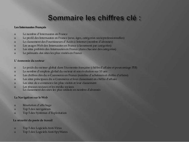 Les Internautes Français  Le nombre d'Internautes en France  Le profil des Internautes en France (sexe, âges, catégories...