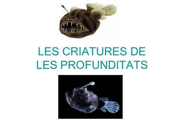 Les criatures de les profunditats