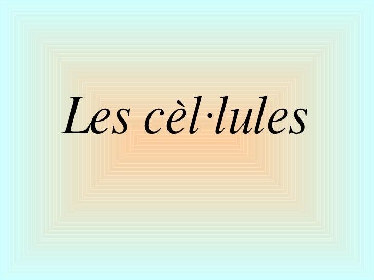 Les cèl·lules