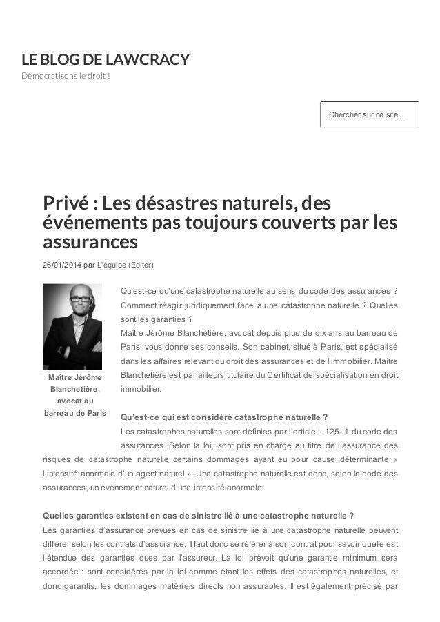 LE BLOG DE LAWCRACY Démocratisons le droit ! Chercher sur ce site… Maître Jérôme Blanchetière, avocat au barreau de ...
